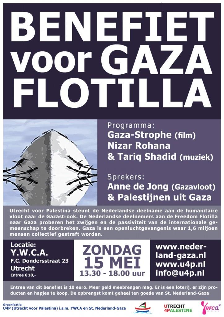 Benefiet Gaza poster