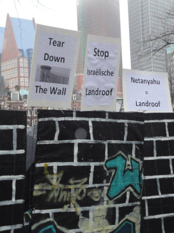 Protest en de muur
